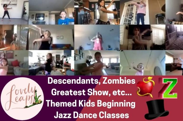 10am PST Beginning Jazz Dance Class Ages 5-10 Years