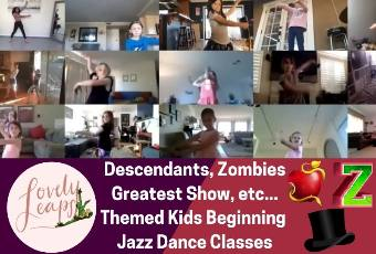 8am PST Beginning Jazz Dance Class Ages 5-10 Years