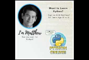 Python Level 3 Virtual Class - Starts October 19!  Grades 4-9 Sign Up Today