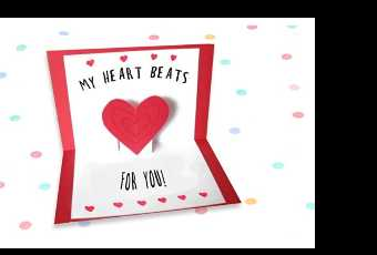 45min Valentine Beating Heart Pop-Up Cardmaking Lesson