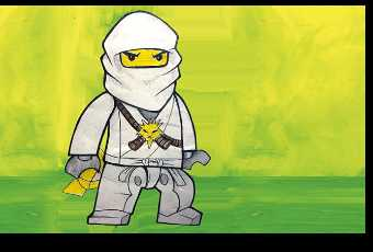 Draw Ninjago White Ninja Zane Art Lesson