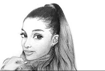 60min People Pencil Sketching Lesson - Ariana Grande