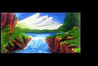 60min Paint A Springtime Waterfall Landscape Scenery