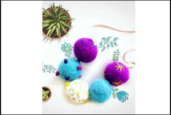 Fuzzy Wuzzy Felt Necklaces & Wall Hangings