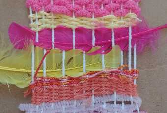 At-Home Textile Media (Weaving and Collaging)