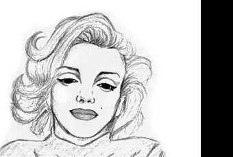 60min People Pencil Sketching Lesson - Marilyn Monroe