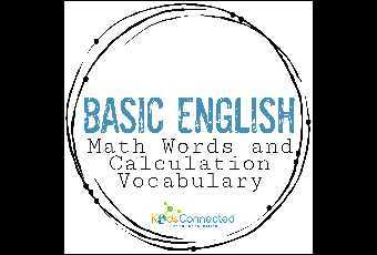 Basic English - Math Words and Calculation Vocabulary
