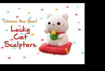 45mins Chinese New Year Lucky Cat Clay Sculpting Class