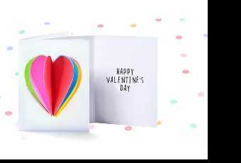45min Valentine 3D Rainbow Heart Card Lesson