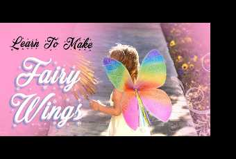 60min Learn To Make Fairy Wings Arts & Crafts Lesson