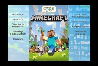 Learn to Mod in Minecraft - Online Class - 8 Classes Total Grades 4-9