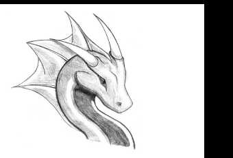 60min Animal Pencil Sketching Art Lesson - Dragon