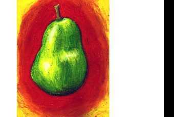 60min Intro To Pastel Techniques - Pear Fruit