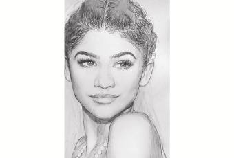 60min People Pencil Sketching Lesson - Zendaya