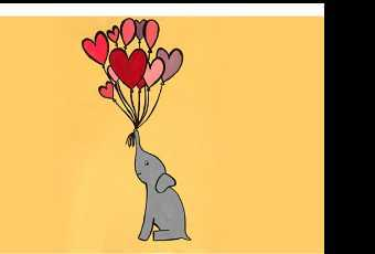 30min Draw A Valentine Elephant With Balloons