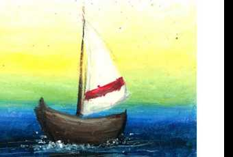 60min Pastel Techniques Art Lesson- Boat
