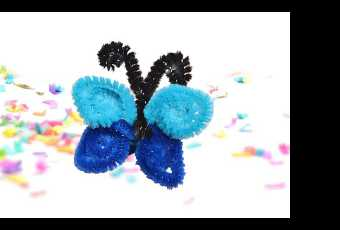 45min Butterfly Pipe-Cleaner Ring Crafty Lesson