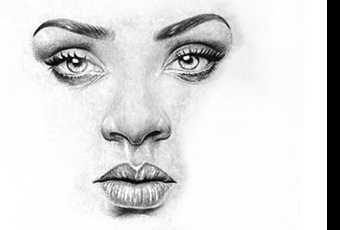 60min People Pencil Sketching Lesson - Rihanna