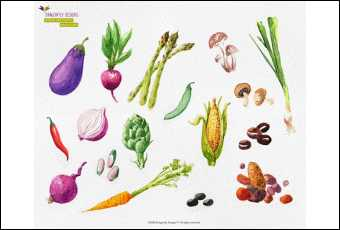 Paint Your Veggies Watercolor