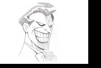 60min People Pencil Sketching Lesson - Joker
