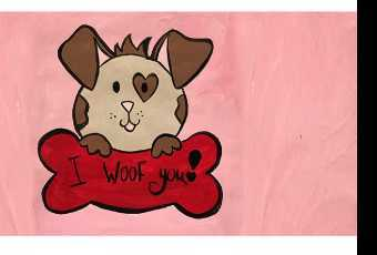 "30min Draw ""I Woof You"" Doggy Valentine Art Lesson"