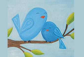 60min Mommy & Me Art Lesson: Bird Family