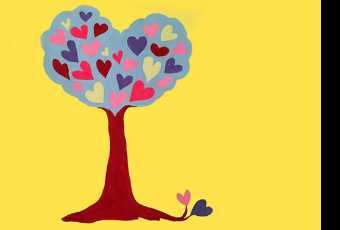 30min Paint A Valentine Tree of Love Art Lesson