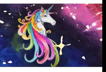 60min Draw A Rainbow Unicorn Art Lesson