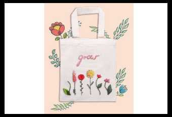 Sewing - Flower Power Tote Bag