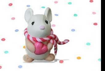 45min Valentine Clay Animals Sculpting Class - Mouse Love