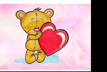30min Draw A Teddy Bear Valentine Art Lesson