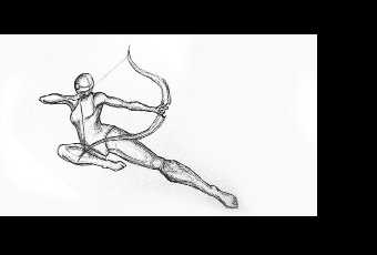 60min Advanced Figure Sketching - Archer Pose