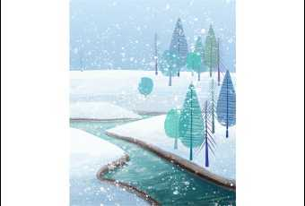 Cartooning - A Winter Wonderland
