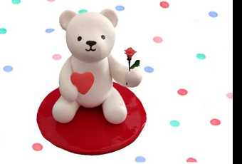 45min Valentine Clay Sculpting Class - Very Beary Love
