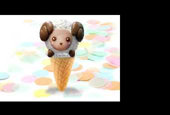 60min Easter Animal Treats Clay Sculpting-Lamb Icecream Cone