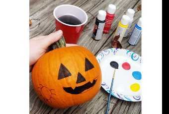 Paint Your Own Halloween Pumpkin