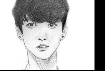 60min People Pencil Sketching Lesson - BTS Boy