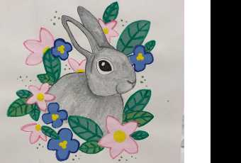 45min Hop in to Spring Art Lesson - Bunny