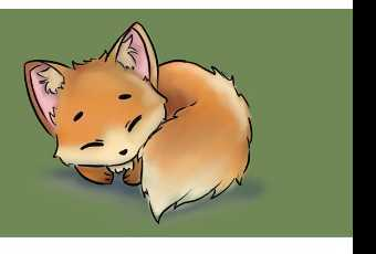 60min Digital Art Lesson - Sleeping Fox