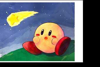 60min Shooting Star Kirby Art Lesson
