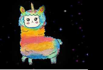 60min Unicorn Rainbow Llama Art Lesson