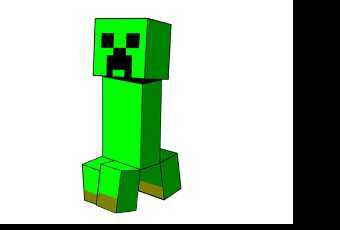 60min Intro to Digital Art - Minecraft Creeper