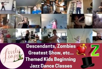 3pm PST Beginning Jazz Dance Class Ages 5-10 Years