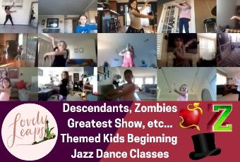 1pm PST Beginning Jazz Dance Class Ages 5-10 Years