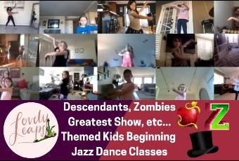 4pm PST Beginning Jazz Dance Class Ages 5-10 Years