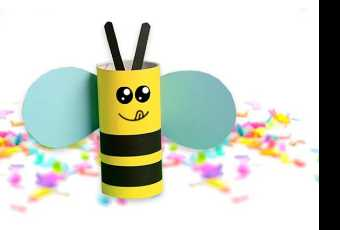 45min Honey Bee Paper Roll Craft Lesson