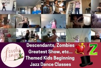 11am PST Beginning Jazz Dance Class Ages 5-10 Years