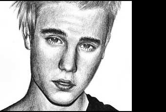 60min People Pencil Sketching Lesson - Justin Bieber