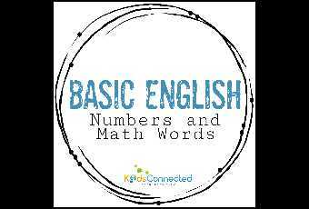 Basic English - Numbers and Math Words